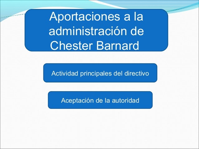 chester barnard Chester barnard developed a conceptual theory of organizations as natural systems in this lesson, you'll learn a bit about chester barnard and his theory of management.