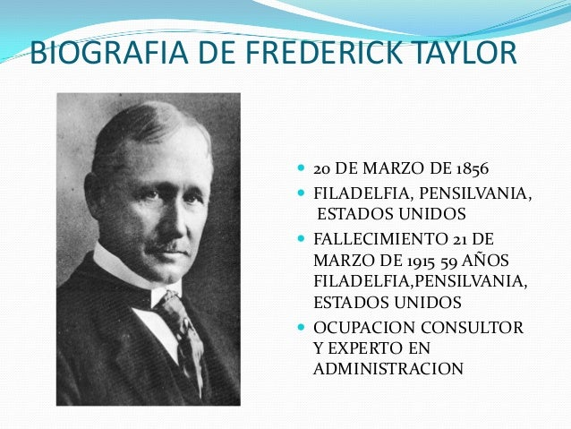 federick winslow taylor essay In his book principles of scientific management, first published in 1911, frederick taylor formulated a view on management that was highly inspired by engineering principles there's a specialist from your university waiting to help you with that essay.