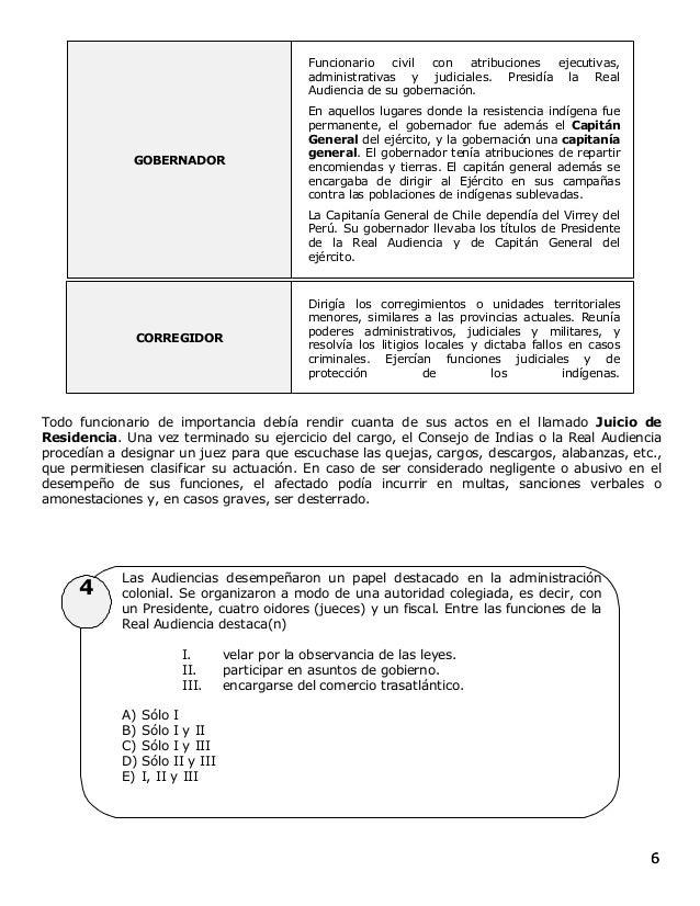 66 4 GOBERNADOR Funcionario civil con atribuciones ejecutivas, administrativas y judiciales. Presidía la Real Audiencia de...