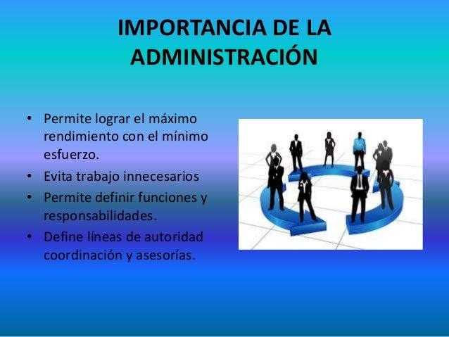 Administracion de empresas for Importancia de la oficina