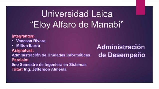"""Universidad Laica """"Eloy Alfaro de Manabí"""""""