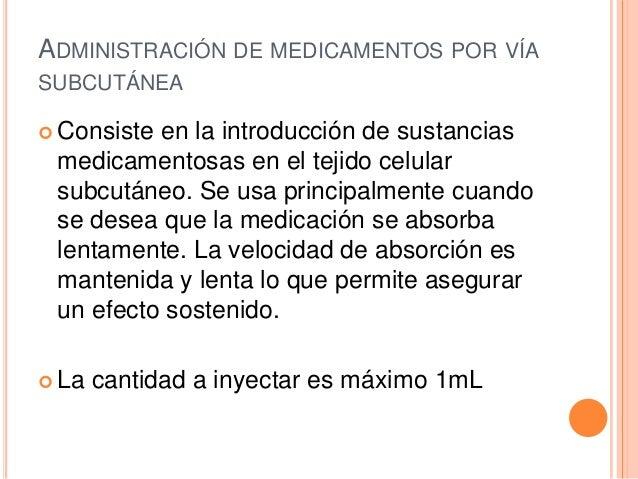 Administracion de medicamentos por via subcutanea for Que significa oficina
