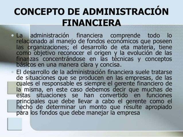 Administracion financiera for Concepto de organizacion de oficina