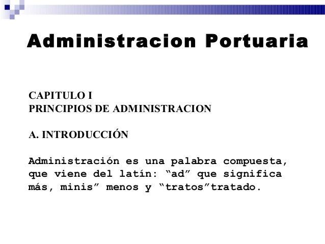 Administracion portuaria for Que significa oficina