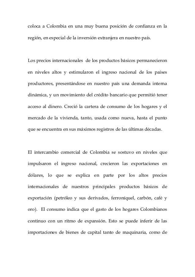 Administración y academia. el comportamiento de la economí colombiana en el año 2012. inocencio meléndez julio. Slide 3
