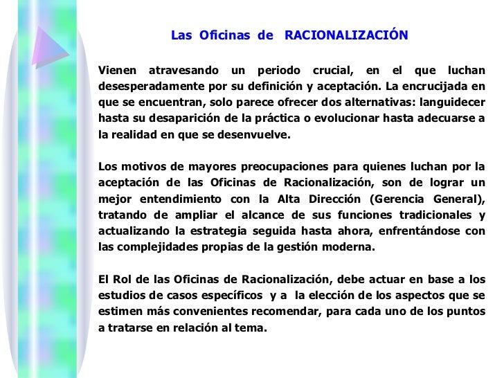 Administracion y la racionalizaci n for Practica de oficina definicion