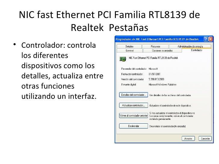 PILOTE PCI REALTEK TÉLÉCHARGER FAMILY RTL8139 ETHERNET FAST