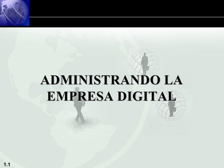 ADMINISTRANDO LA EMPRESA DIGITAL