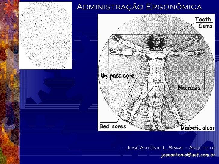 Administração Ergonômica José Antônio L. Simas  -  Arquiteto [email_address]