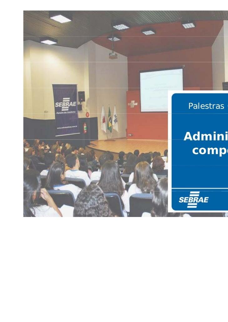 Palestras GerenciaisAdministração competitiva