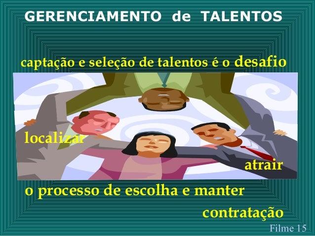 GERENCIAMENTO de TALENTOS captação e seleção de talentos é o desafio localizar atrair o processo de escolha e manter contr...