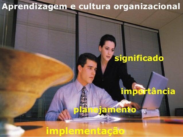 Aprendizagem e cultura organizacional significado importância planejamento implementação