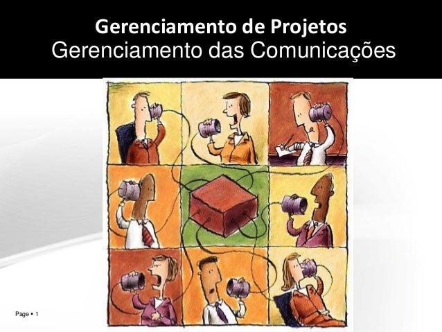 Gerenciamento de Projetos Gerenciamento das Comunicações  aqW2  Page  1