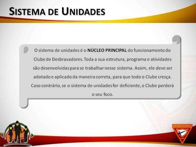 Administração e planejamento Sistema de Unidades Slide 3