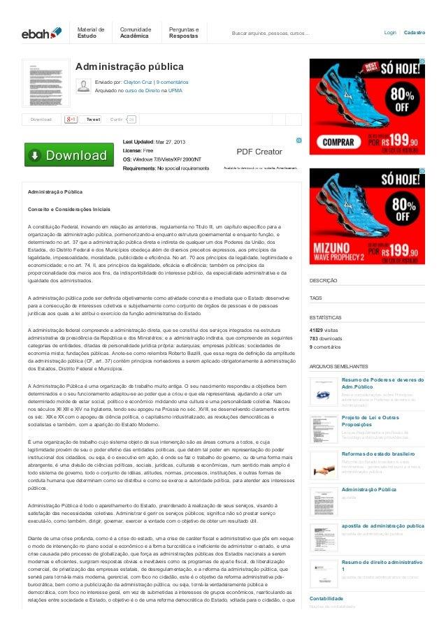 Material de Estudo  Comunidade Acadêmica  Perguntas e Respostas  Login  Buscar arquivos, pessoas, cursos…  Cadastro  Admin...