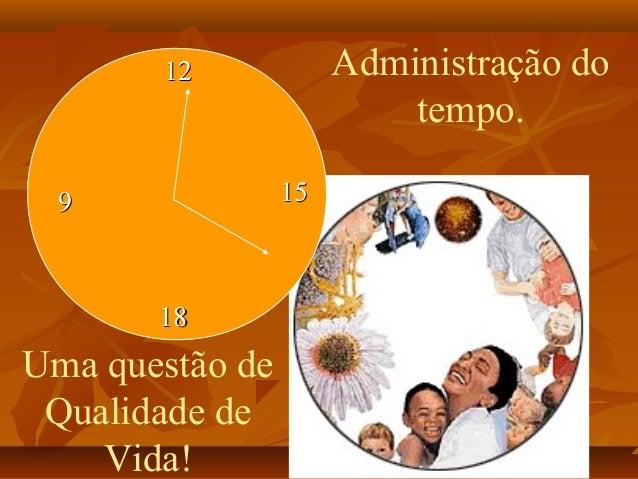 1212 1515 1818 99 Administração do tempo. Uma questão de Qualidade de Vida!