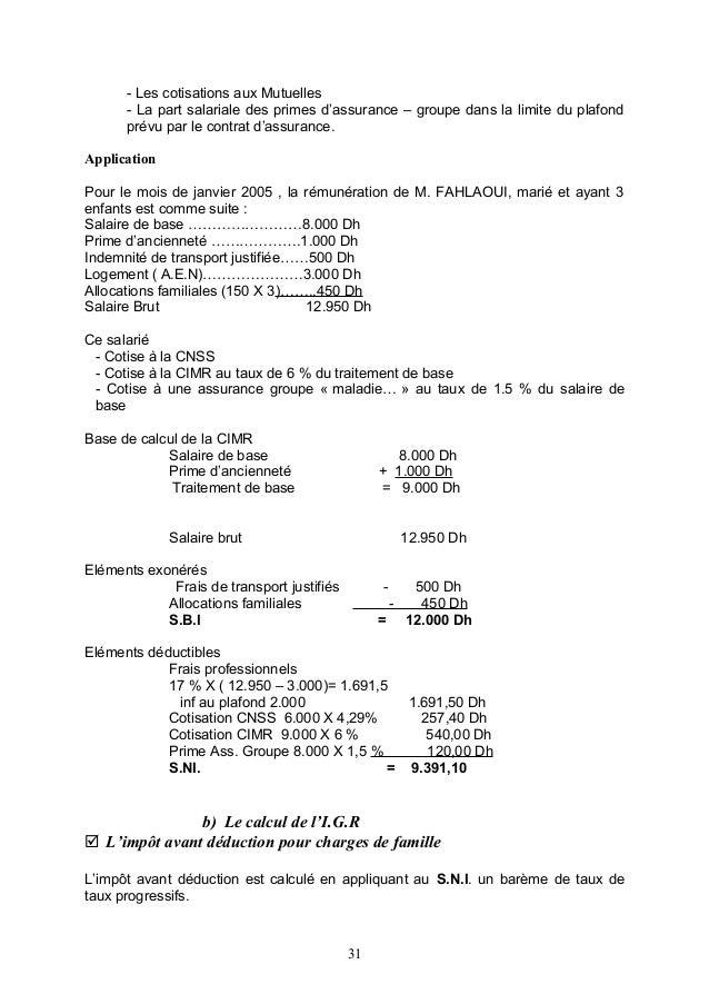 Administration du personnel - Plafond salaire imposable ...