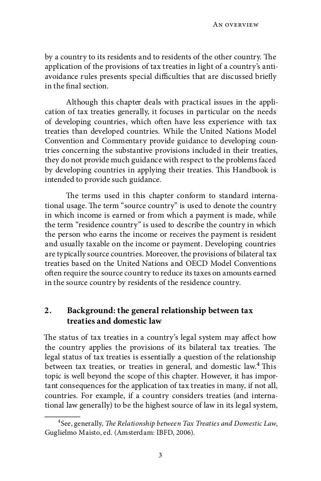 Administration Of Double Tax Treaties