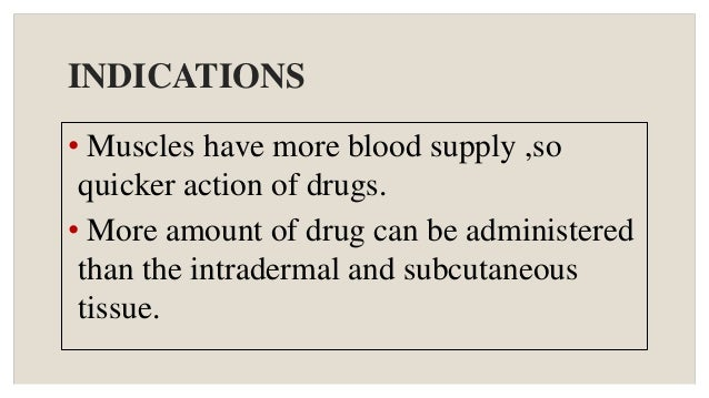 Administration Of Im Injections