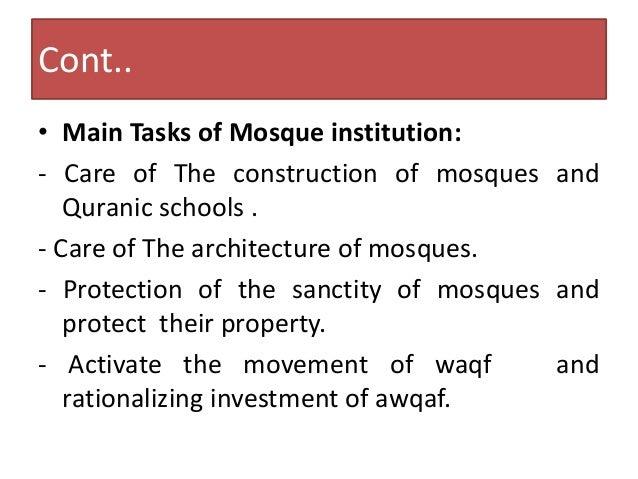 Administration Of Islamic Affairswaqfendowments Hajj Zakat Mosque Algeria Cb Awqaf And Management