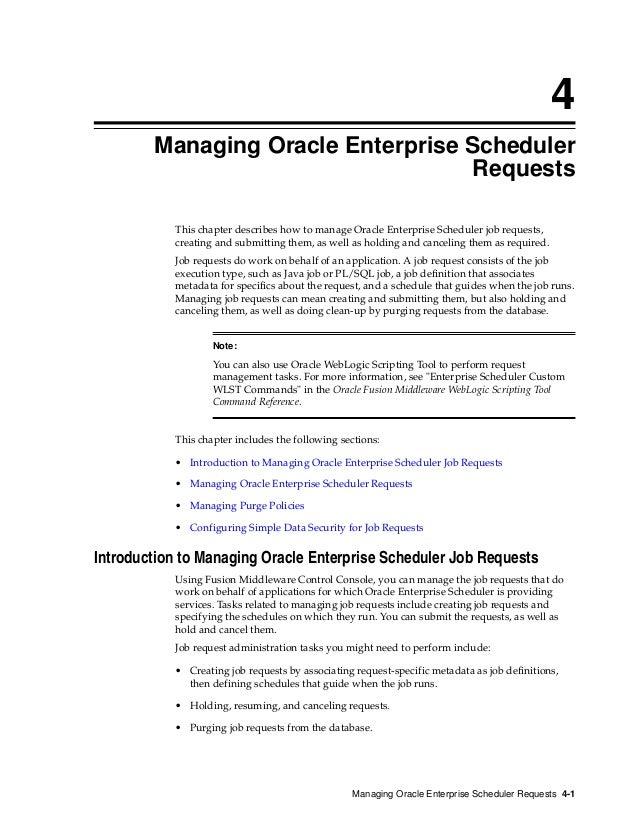 Oracle executable jobs