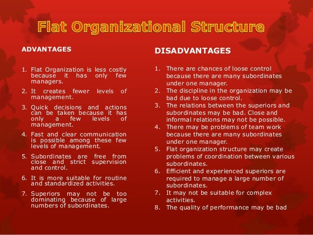 tall organisational structure advantages and disadvantages