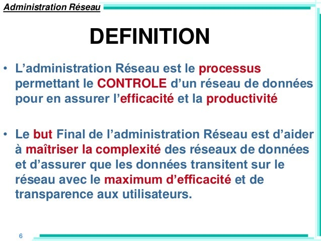 administration reseau