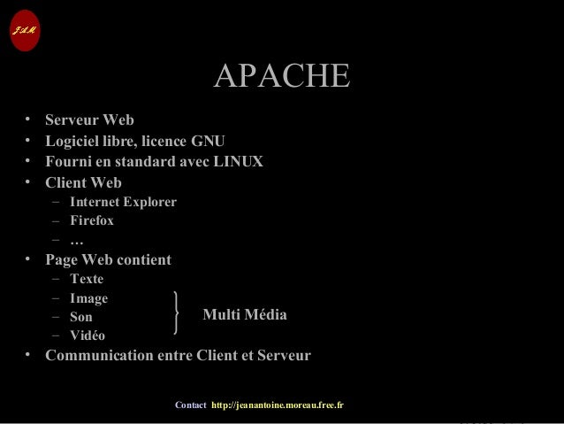 © Jean-Antoine Moreau copying and reproduction prohibited Contact http://jeanantoine.moreau.free.fr APACHEAPACHE • Serveur...