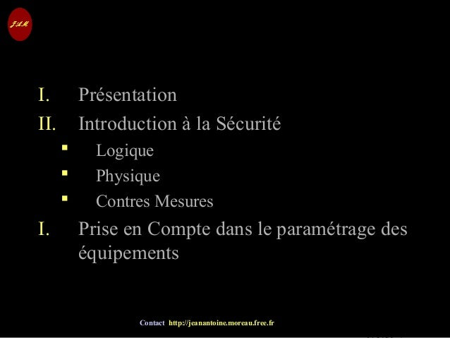 © Jean-Antoine Moreau copying and reproduction prohibited Contact http://jeanantoine.moreau.free.fr I. Présentation II. In...