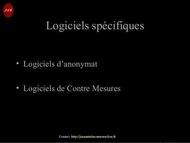 © Jean-Antoine Moreau copying and reproduction prohibited Contact http://jeanantoine.moreau.free.fr Logiciels spécifiquesL...
