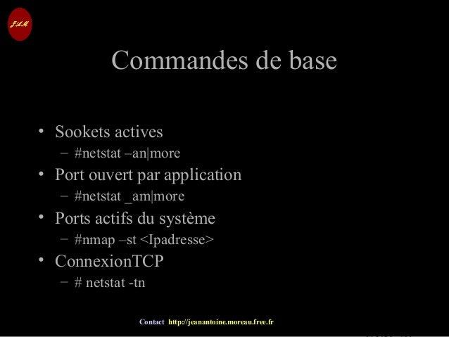 © Jean-Antoine Moreau copying and reproduction prohibited Contact http://jeanantoine.moreau.free.fr Commandes de baseComma...