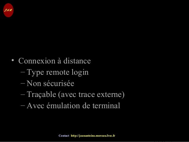 © Jean-Antoine Moreau copying and reproduction prohibited Contact http://jeanantoine.moreau.free.fr TELNET • Connexion à d...