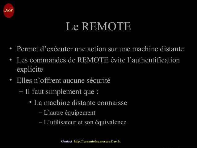 © Jean-Antoine Moreau copying and reproduction prohibited Contact http://jeanantoine.moreau.free.fr Le REMOTELe REMOTE • P...