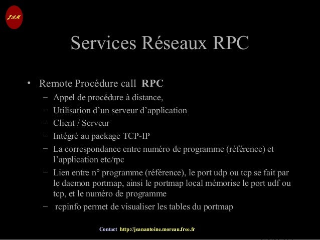 © Jean-Antoine Moreau copying and reproduction prohibited Contact http://jeanantoine.moreau.free.fr Services Réseaux RPCSe...