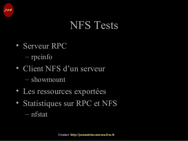© Jean-Antoine Moreau copying and reproduction prohibited Contact http://jeanantoine.moreau.free.fr NFS TestsNFS Tests • S...