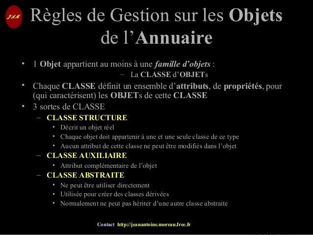 © Jean-Antoine Moreau copying and reproduction prohibited Contact http://jeanantoine.moreau.free.fr Règles de Gestion sur ...