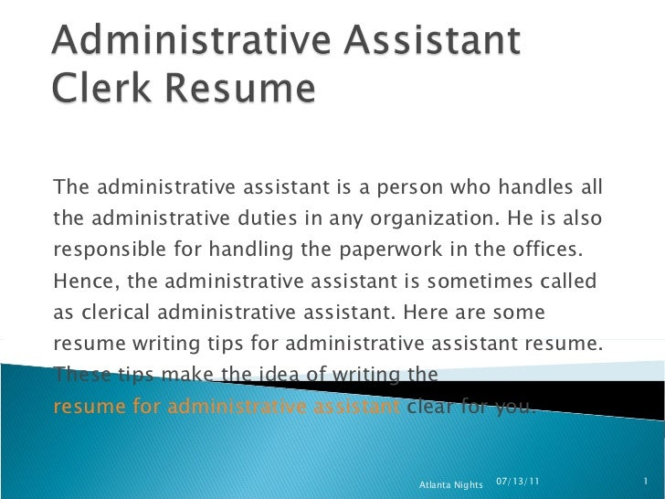 administrative assistant clerk resume 8