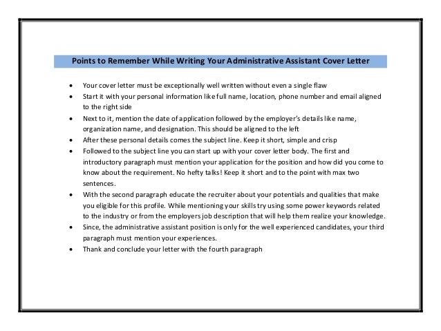 Read Full Article   Http://www.bestofsampleresume.com/administrative  Assistant Cover Letter  Sample/; 3.  Administrative Assistant Cover Letter Samples