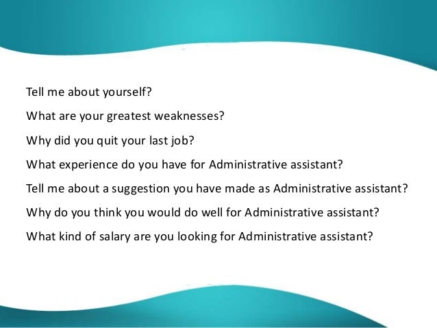 administrative assistant interview questions and answers pdf