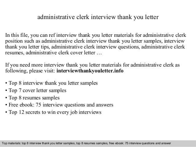 administrative clerk interview thank you letter in this file you can ref interview thank you