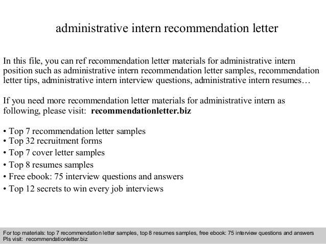sample internship recommendation letter
