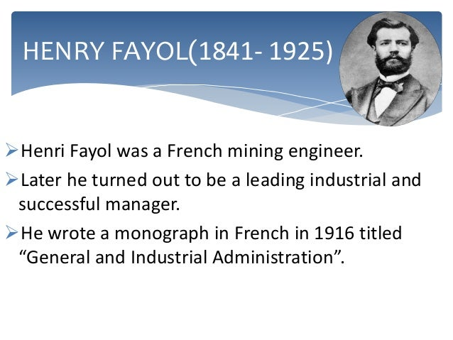 henri fayol's 14 administrative principles of Henri fayol ppt 1  evaluation fayol's contribution to management theory is  the 14-principles are the outcome of his long experience.