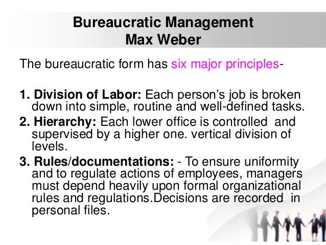discuss scientific management max weber and Classical organization theory includes the scientific management approach, weber's bureaucratic  and discuss weber's  organizational behaviour and.