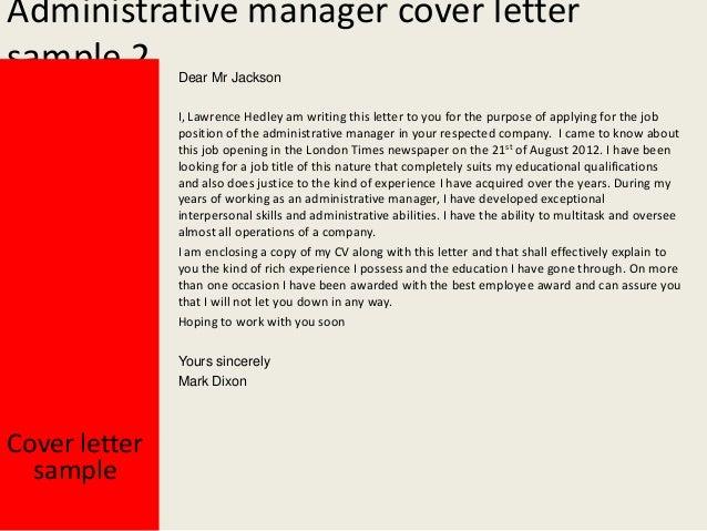 administrative director cover letter - Zohre ...