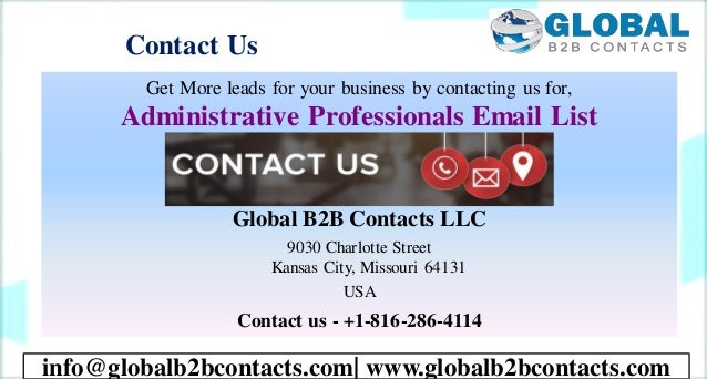 Contact Us Get More leads for your business by contacting us for, Administrative Professionals Email List Global B2B Conta...