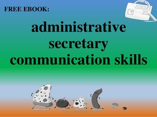 Administrative secretary communication skills pdf