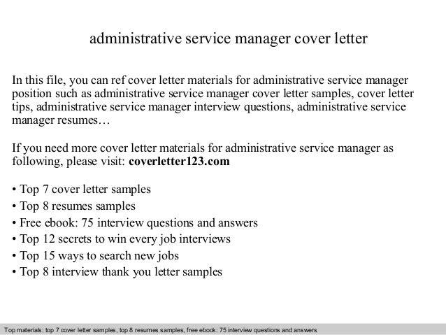 administrative service manager cover letter in this file you can ref cover letter materials for