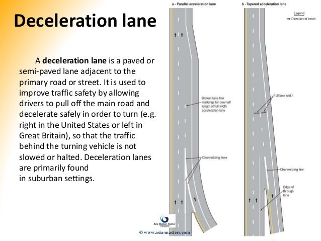 drivers ed acceleration lane definition