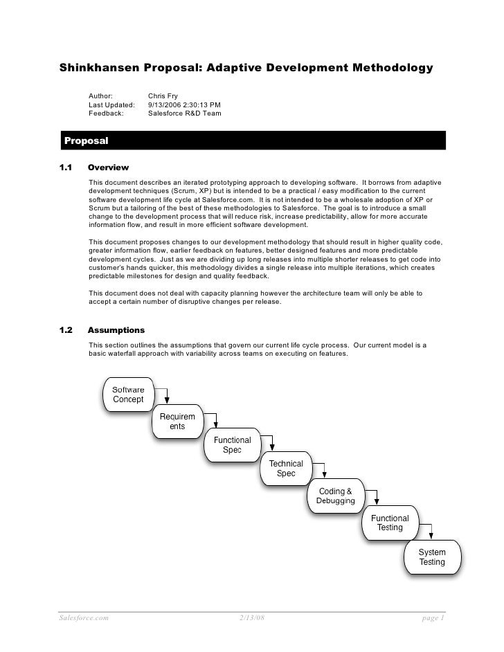 Shinkhansen Proposal: Adaptive Development Methodology          Author:           Chris Fry         Last Updated:     9/13...
