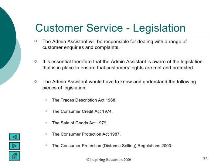 legislation customer service